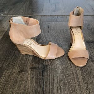 Jessica Simpson Nude Wedge Heels